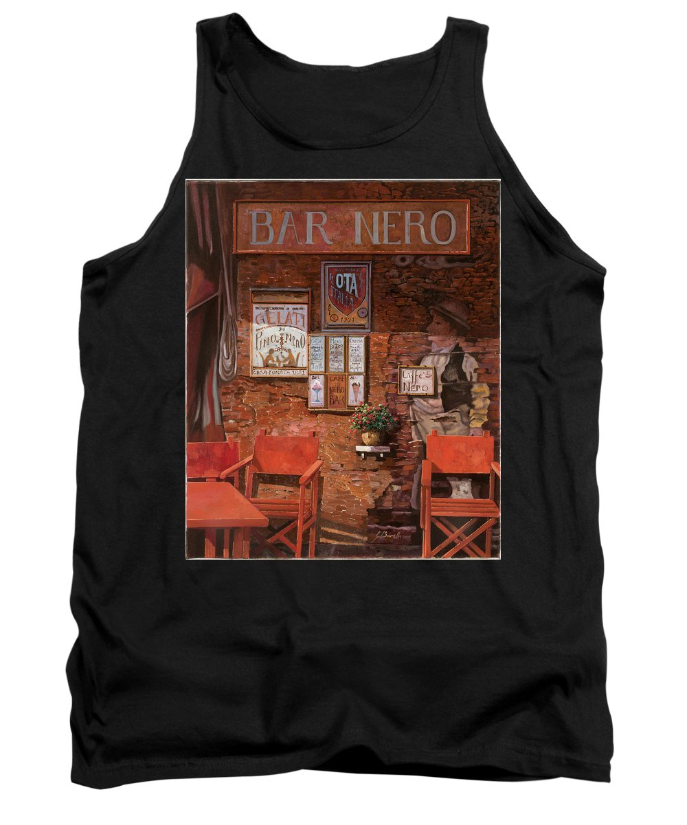 Caffe' Tank Top featuring the painting caffe Nero by Guido Borelli