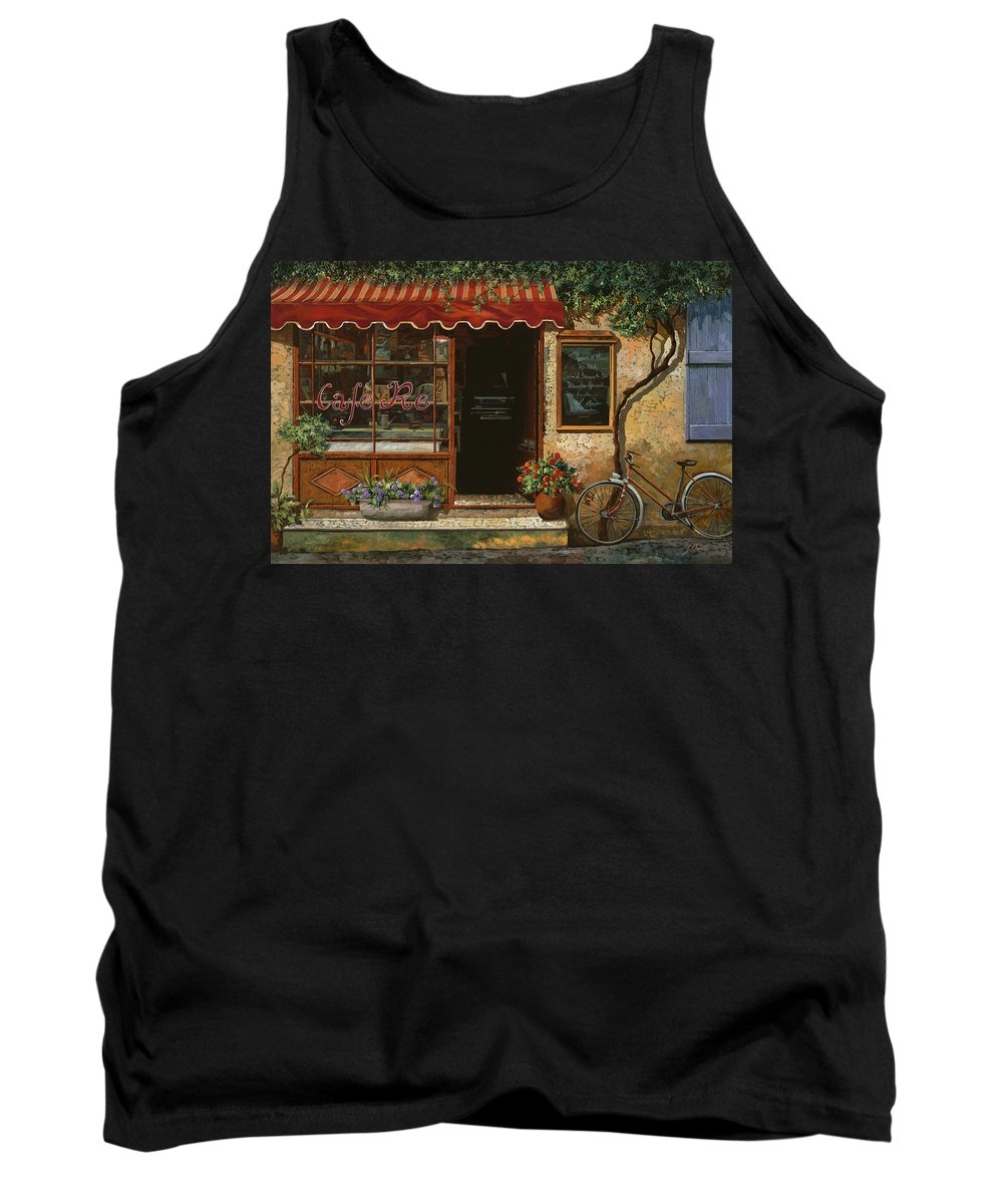 Caffe' Tank Top featuring the painting caffe Re by Guido Borelli
