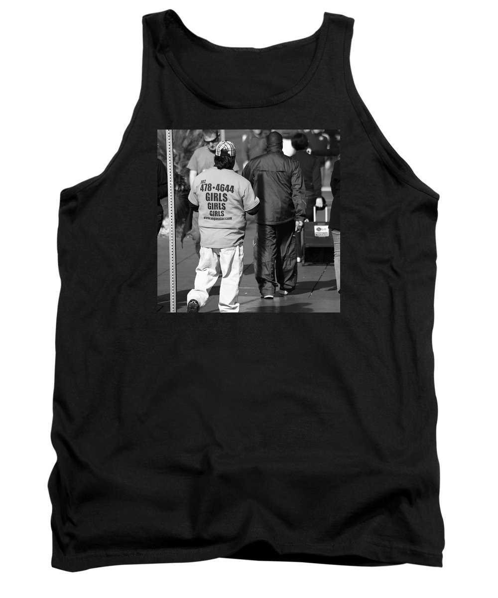 Robert Melvin Tank Top featuring the photograph Call For Girls by Robert Melvin