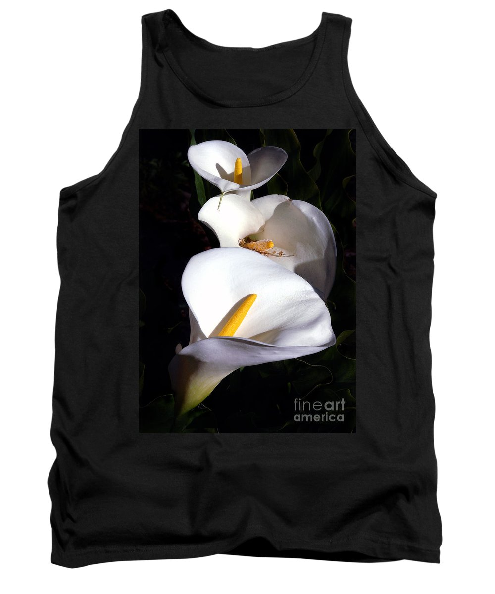 Nature Tank Top featuring the photograph Calla Trio by Norman Andrus