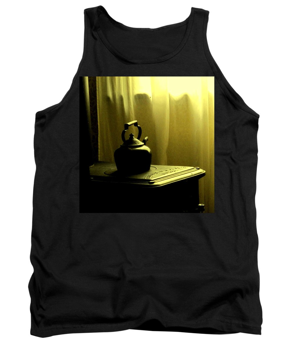 Kettle Tank Top featuring the photograph Calling The Kettle Black by Ian MacDonald