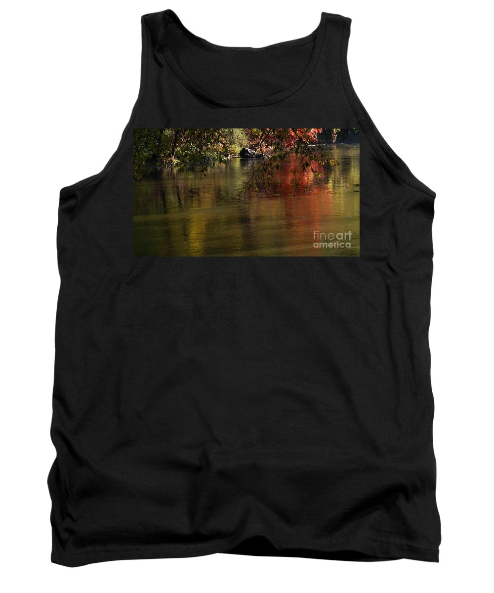 River Tank Top featuring the photograph Calm Reflection by Linda Shafer