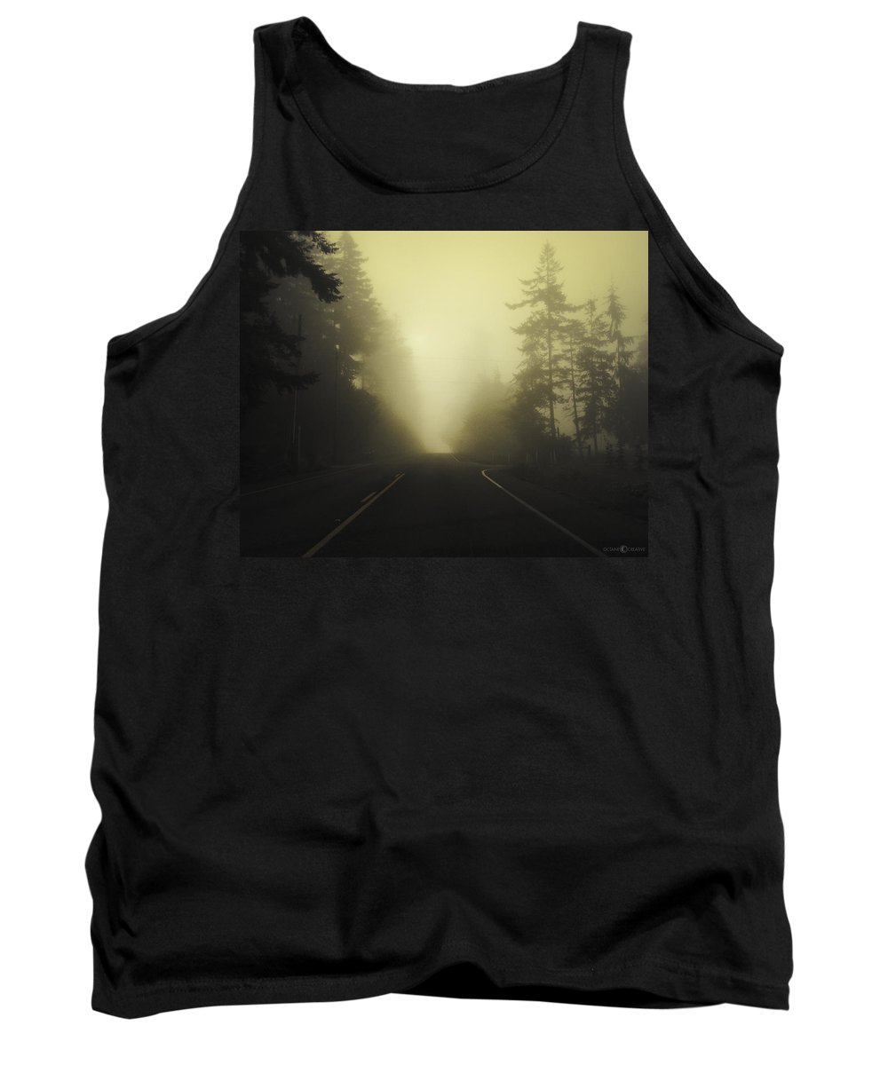 Fog Tank Top featuring the photograph Camano Island Fog by Tim Nyberg