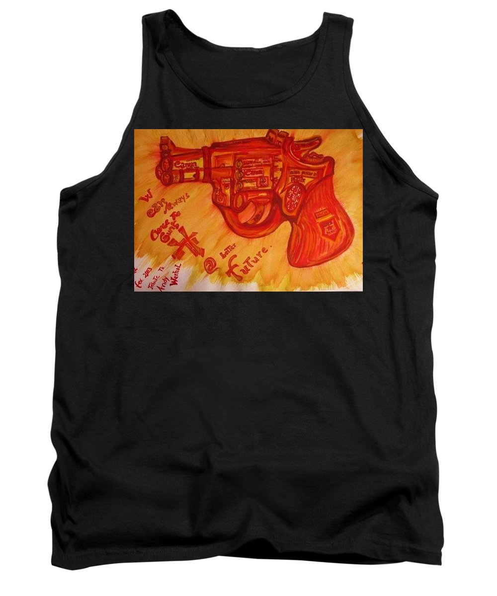 Revolver Tank Top featuring the painting Can On by Nila Poduschco
