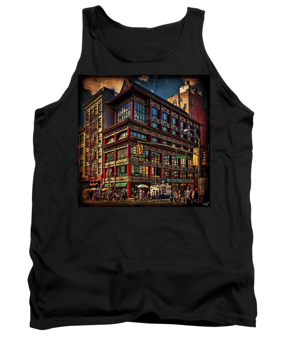 Eastern Tank Top featuring the photograph Canal And Center Streets New York City by Chris Lord