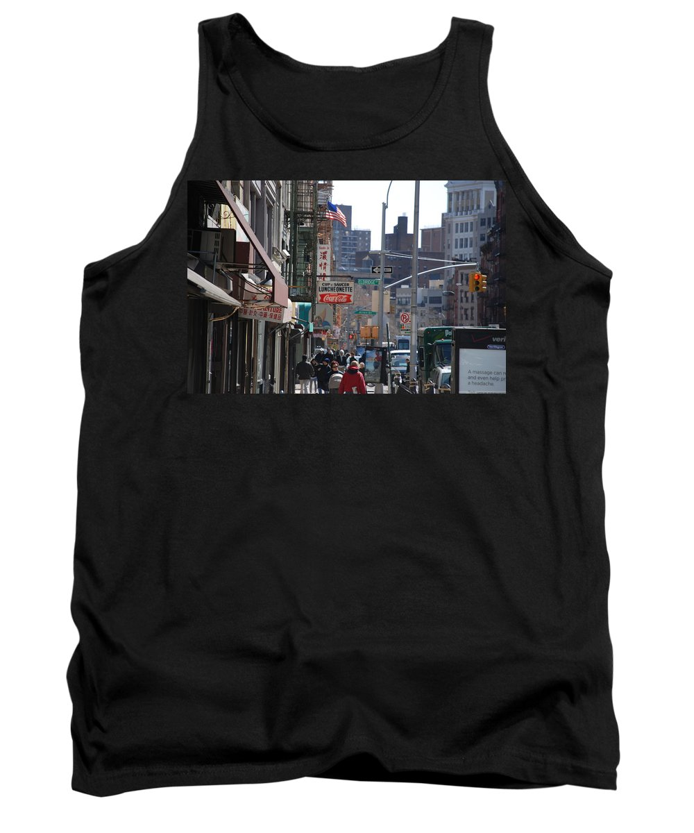 Architecture Tank Top featuring the photograph Canal And Eldridge by Rob Hans