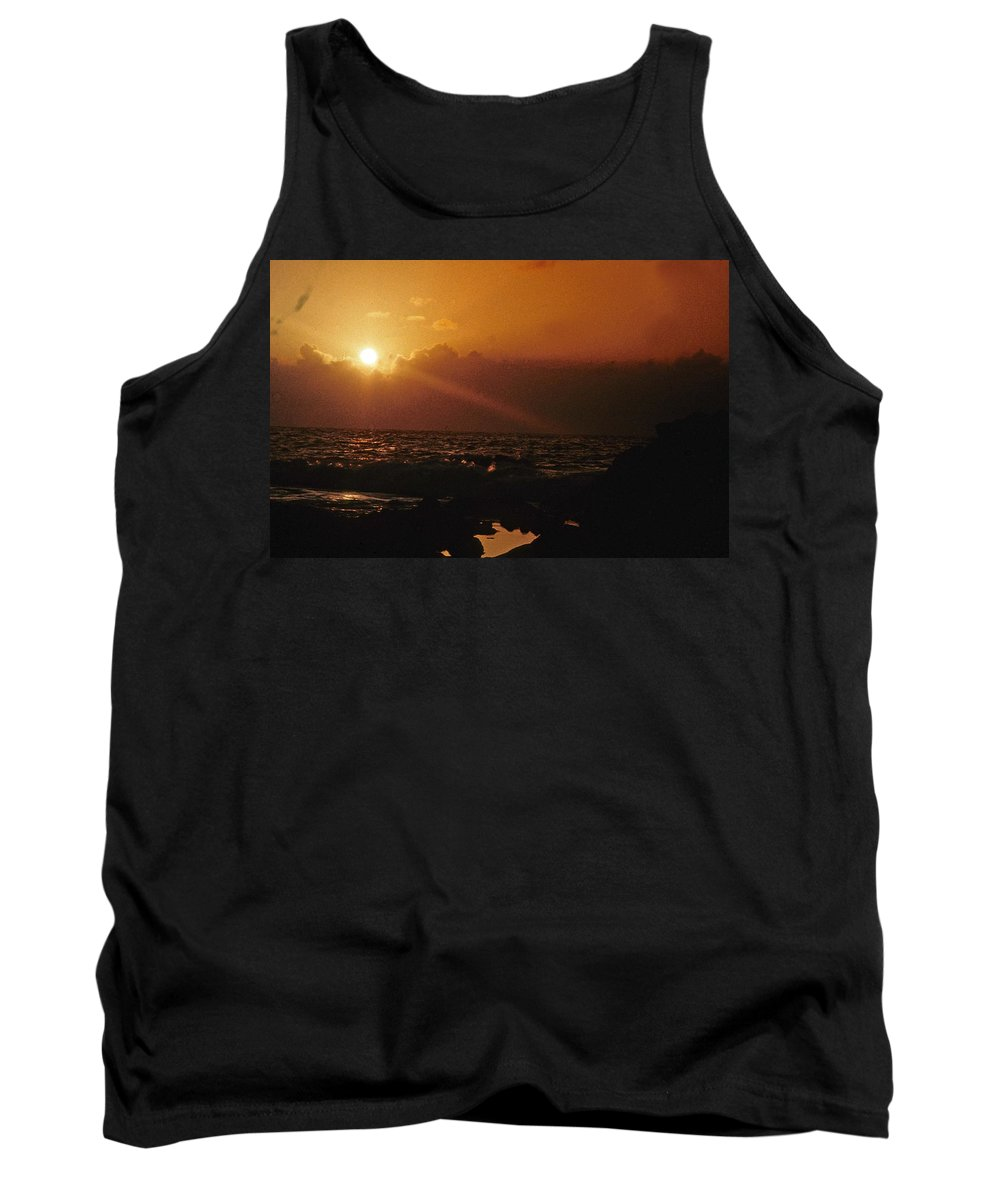 Sunset Tank Top featuring the photograph Canary Islands Sunset by Gary Wonning