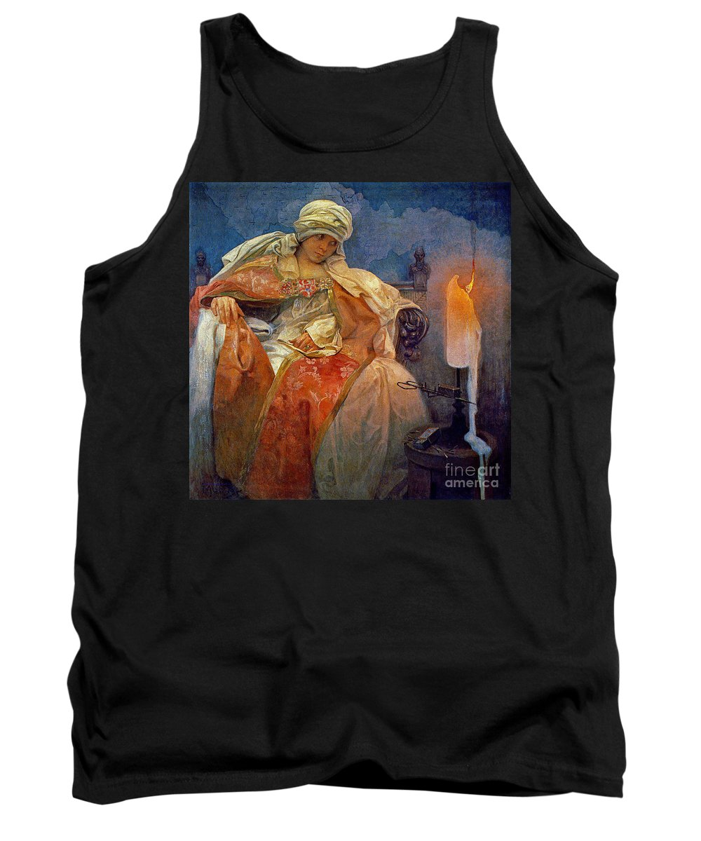 Candlelight 1911 Tank Top featuring the photograph Candlelight 1911 by Padre Art