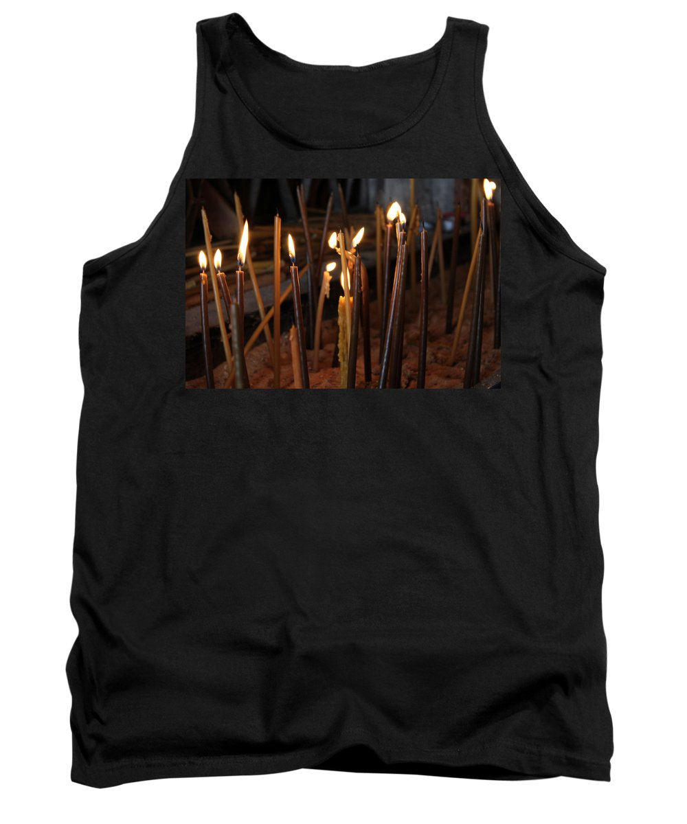 Candle Tank Top featuring the photograph Candles by Munir Alawi