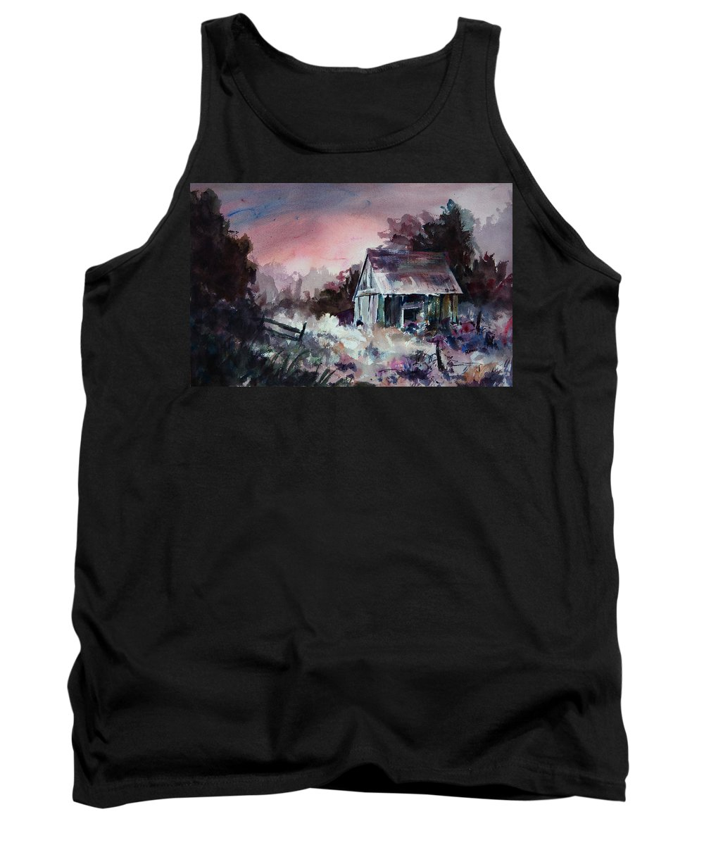 Shack Tank Top featuring the painting Candy Cane by Rachel Christine Nowicki