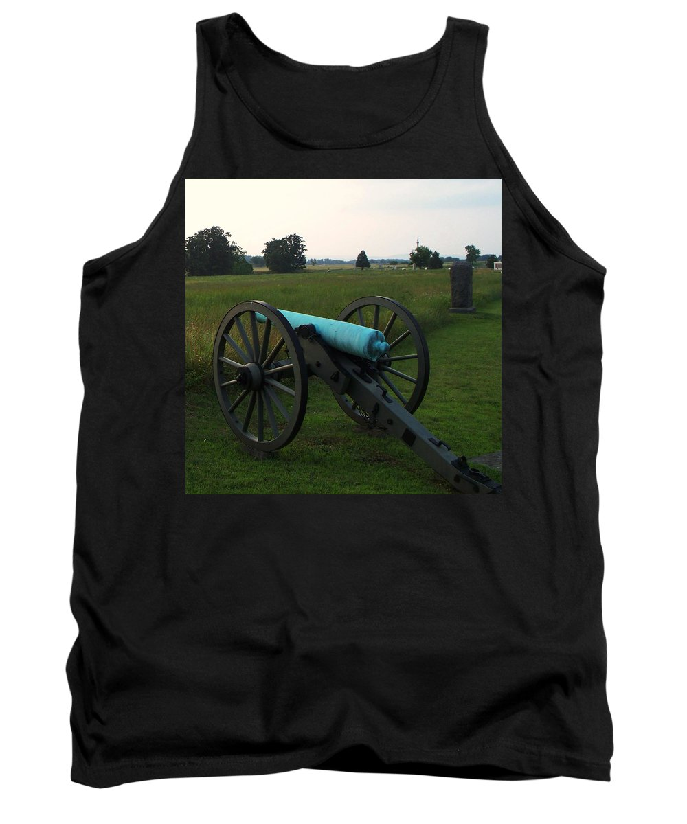 Tank Top featuring the photograph Cannon At Gettysburg 2 by Eric Schiabor