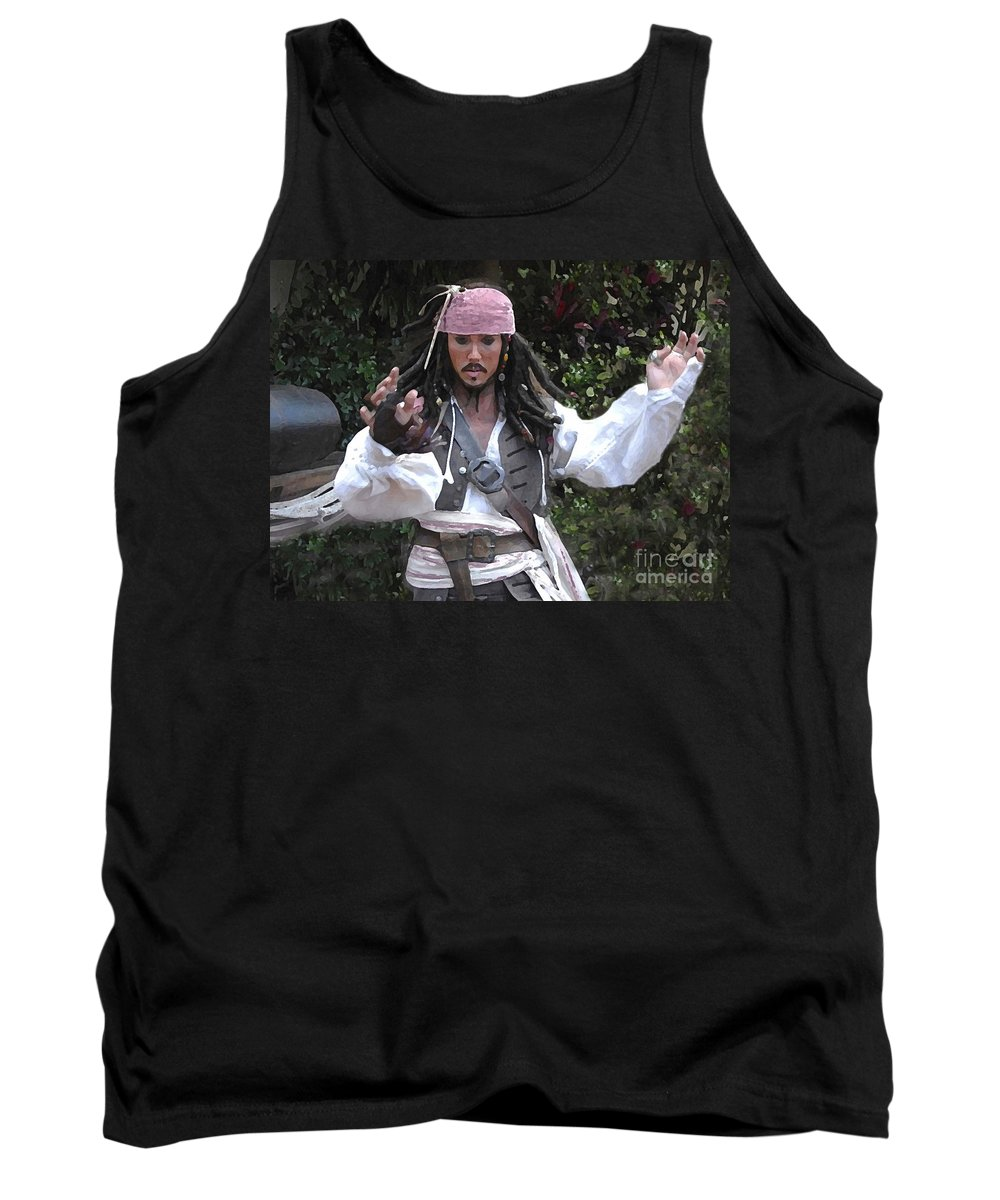 Captain Tank Top featuring the photograph Captain Sparrow by David Lee Thompson