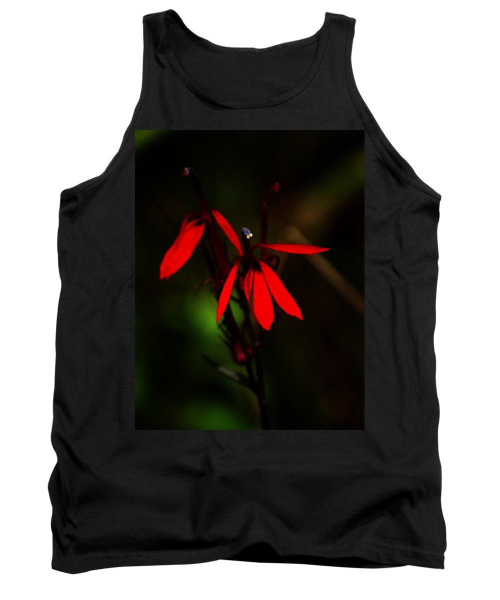 Digital Photograph Tank Top featuring the photograph Cardinal Plant by David Lane