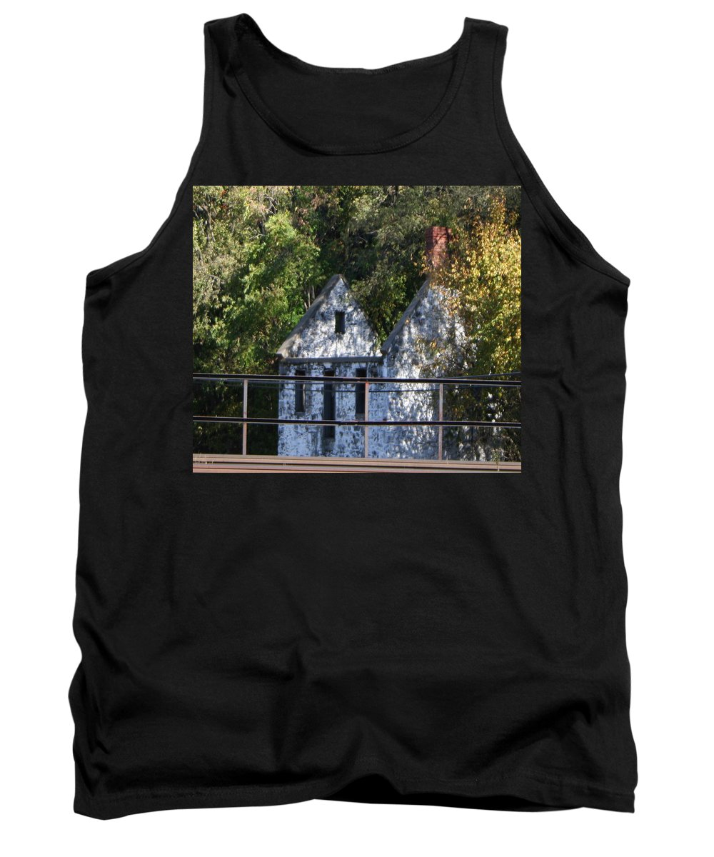 Stone House Tank Top featuring the photograph Caretakers House by Rebecca Smith