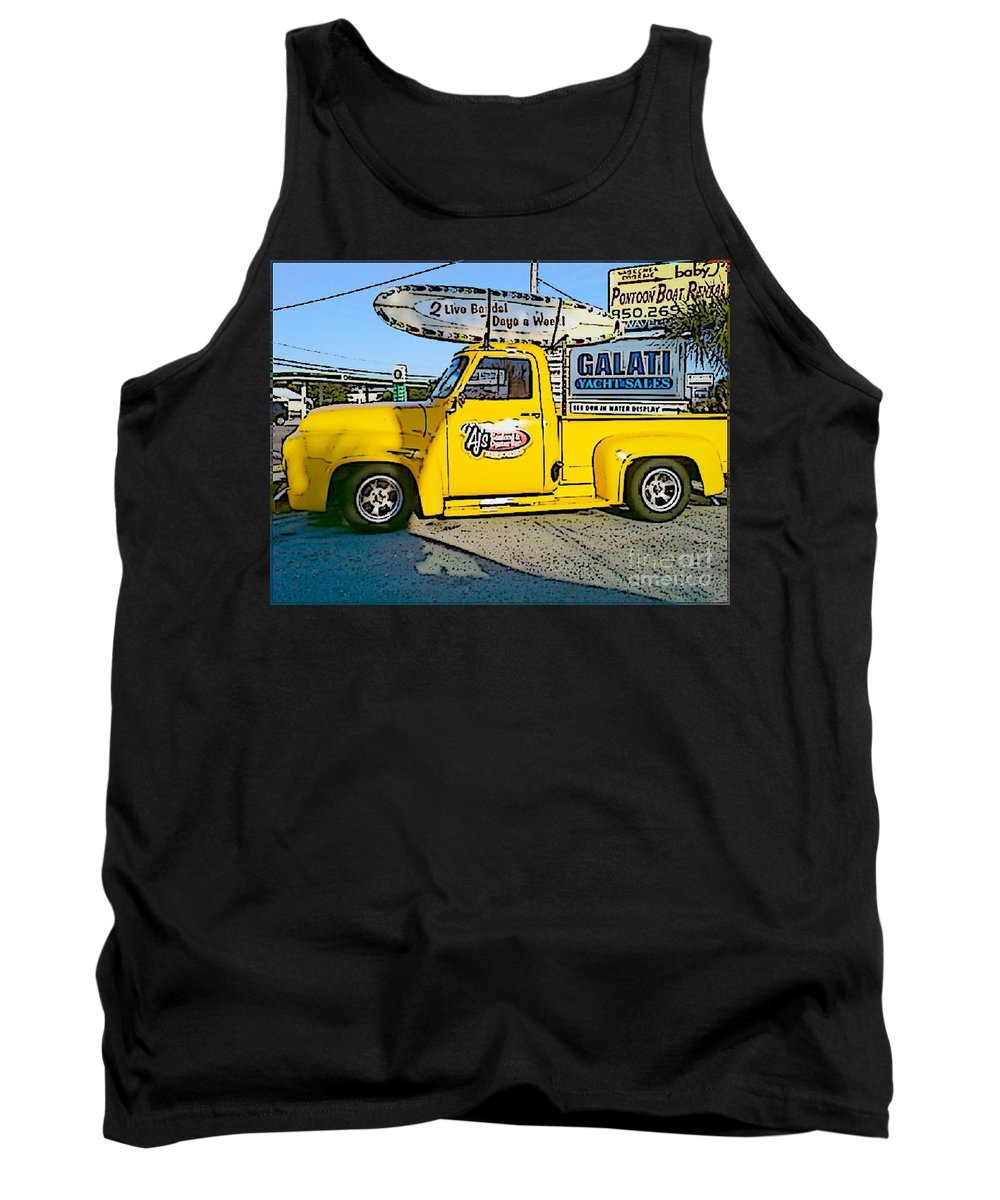 Cartoon Tank Top featuring the photograph Cartoon Truck by Michelle Powell