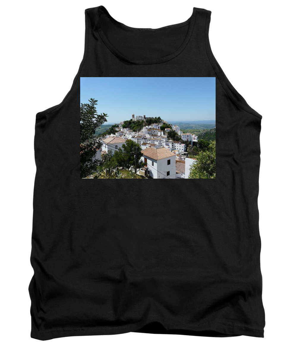Landscape Tank Top featuring the photograph Casares Spain by Valerie Ornstein