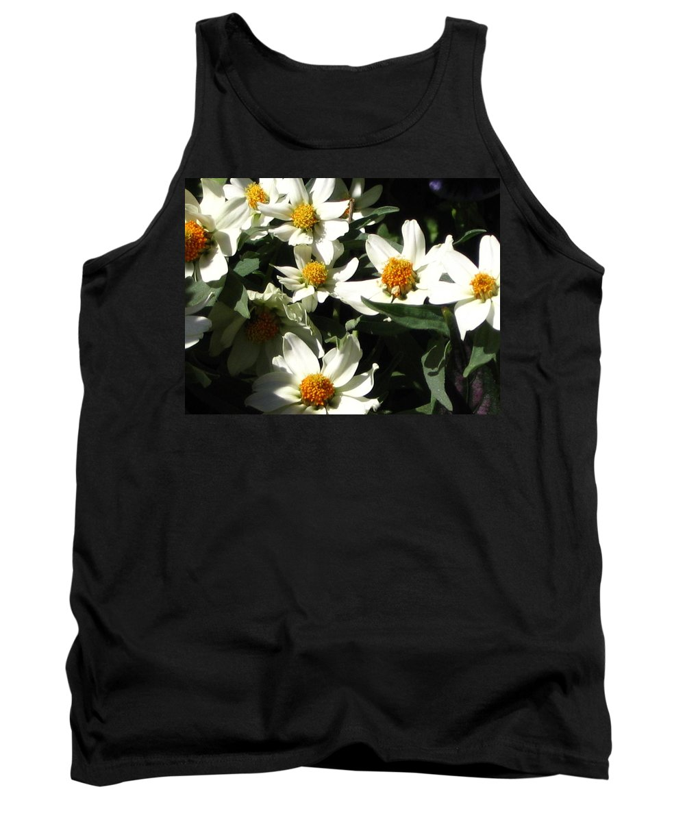 Floral Tank Top featuring the photograph Cascade Of White Flowers by Line Gagne