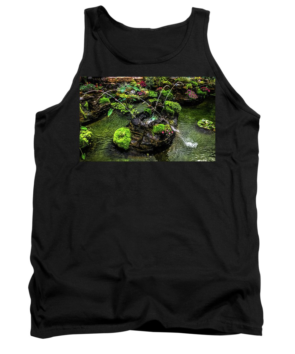 Grand Ol Opry Tank Top featuring the photograph Cascades Fountains by Onyonet Photo Studios