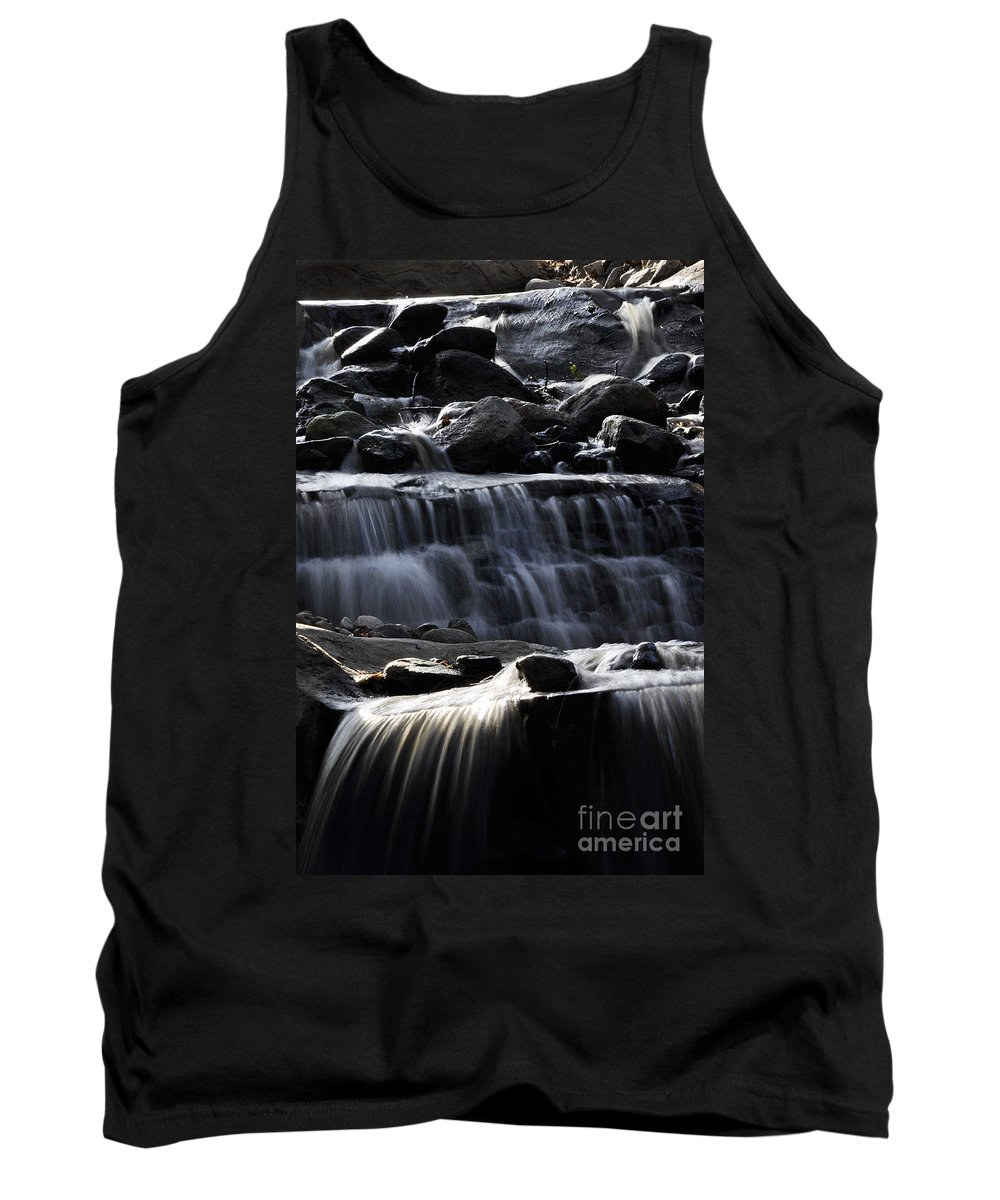 Clay Tank Top featuring the photograph Cascading Falls by Clayton Bruster