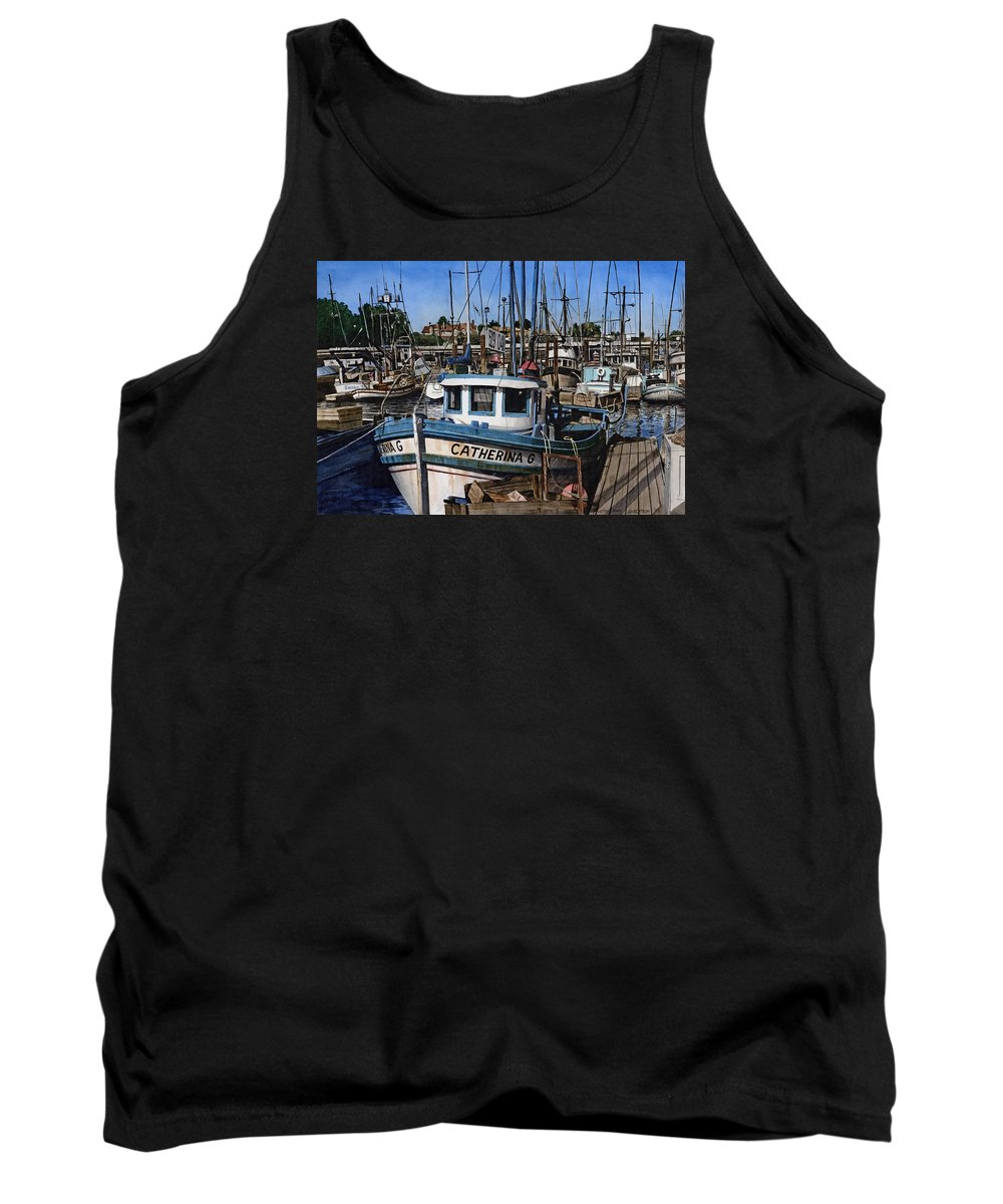 Transportation Tank Top featuring the painting Catherina G by James Robertson