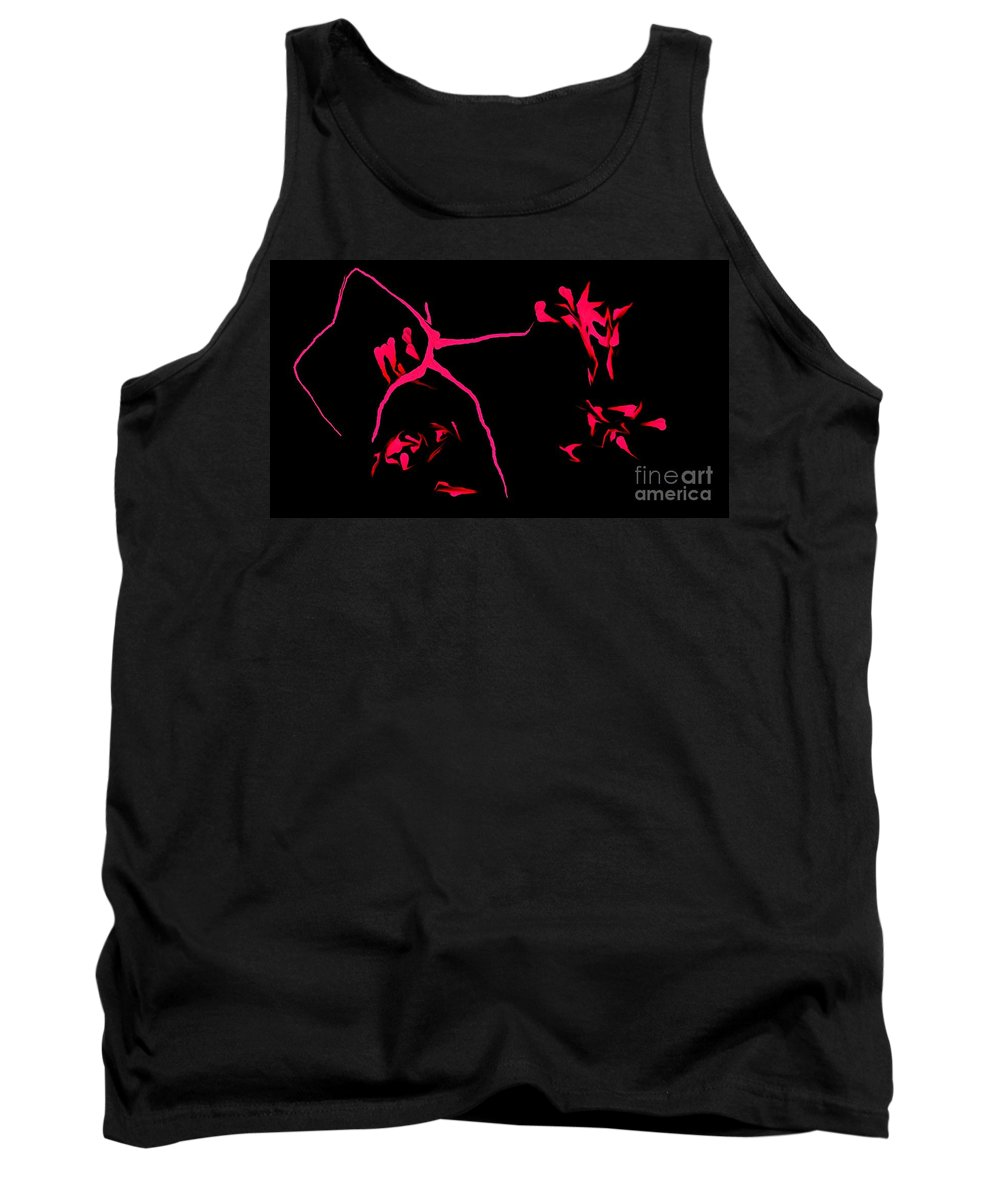 Abstract Tank Top featuring the digital art Cave Drawings by David Lane