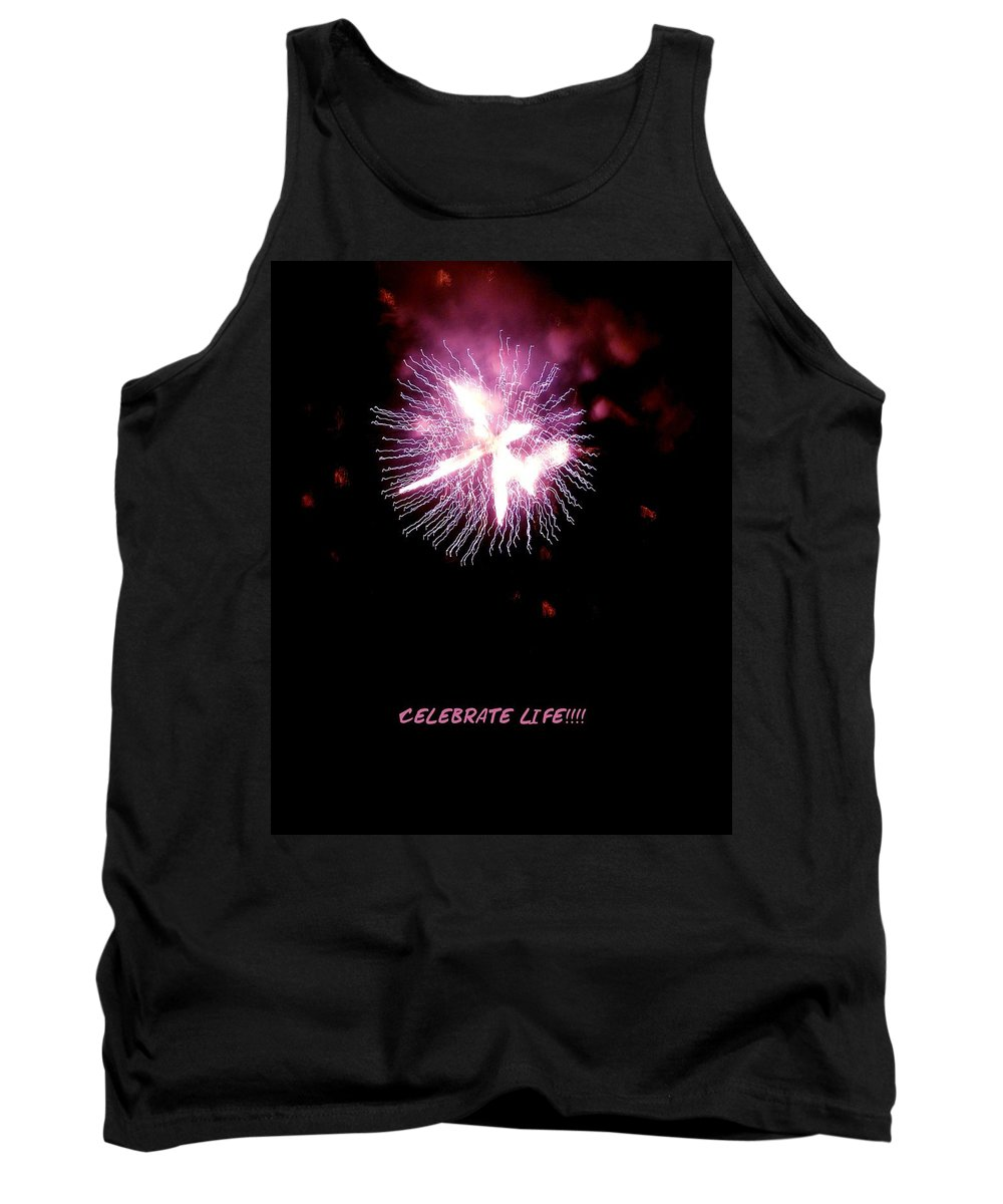 Fireworks Tank Top featuring the photograph Celebrate Life by Kendall Eutemey