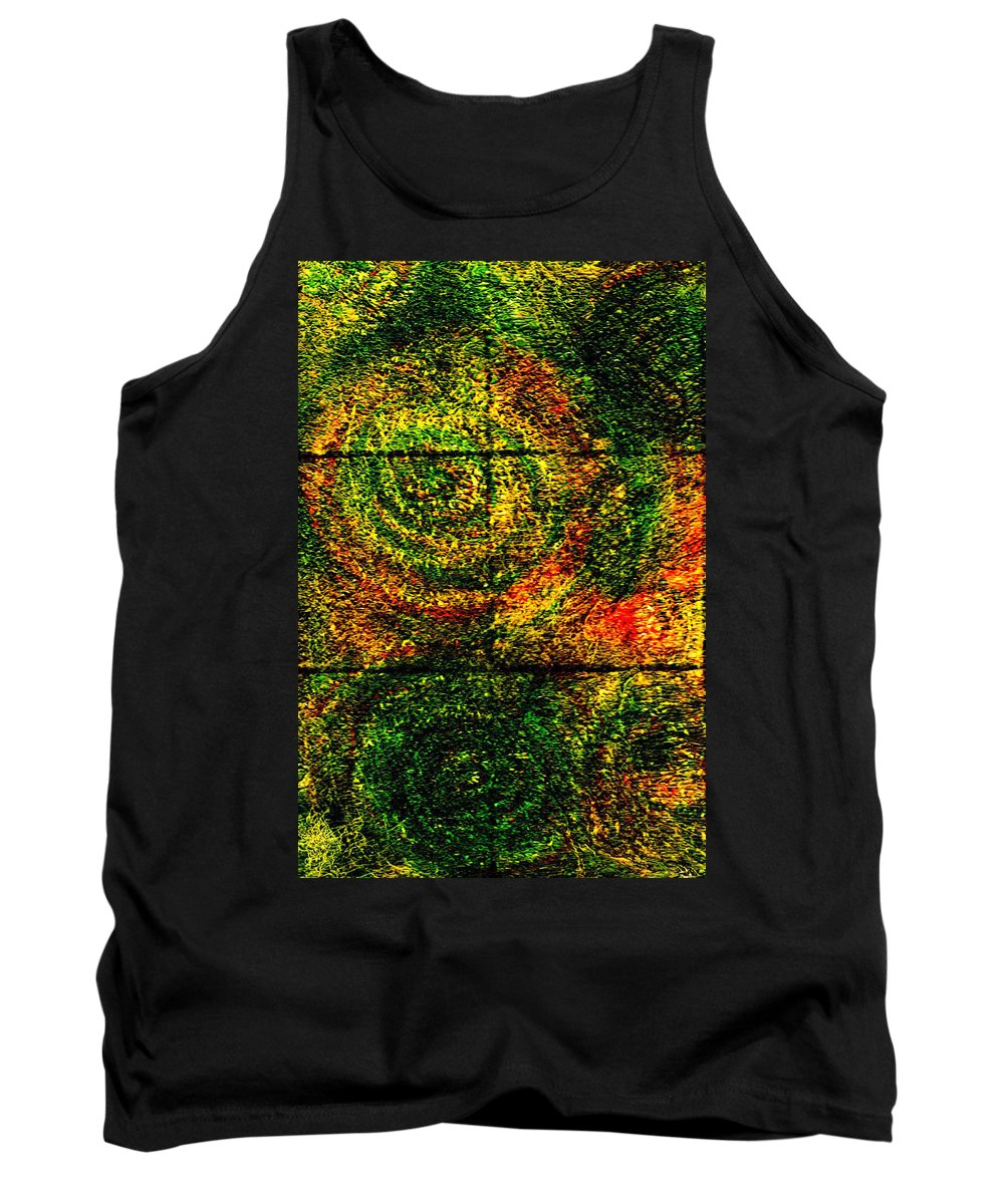 Abstract Tank Top featuring the painting Celestial Grid by Wayne Potrafka