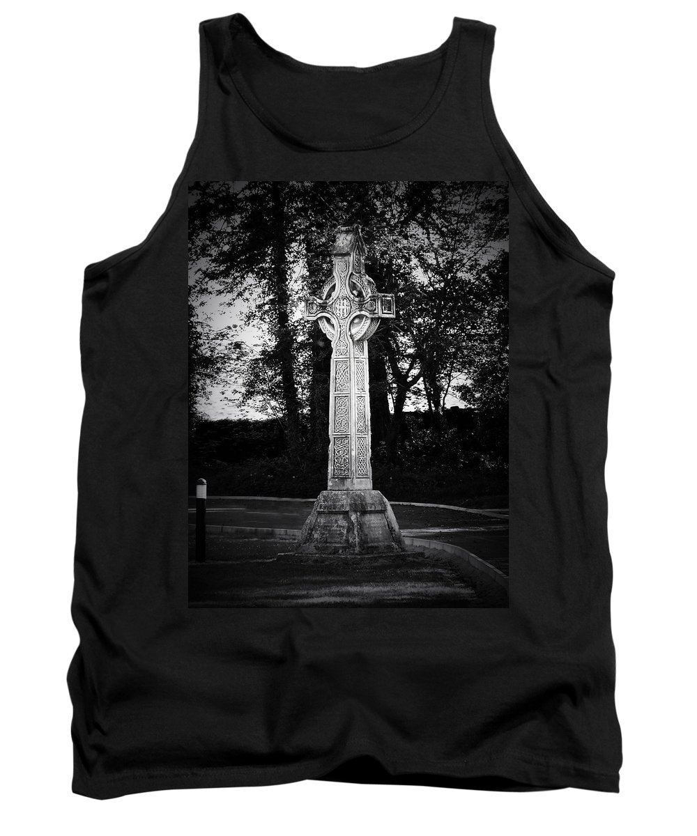 Irish Tank Top featuring the photograph Celtic Cross In Killarney Ireland by Teresa Mucha