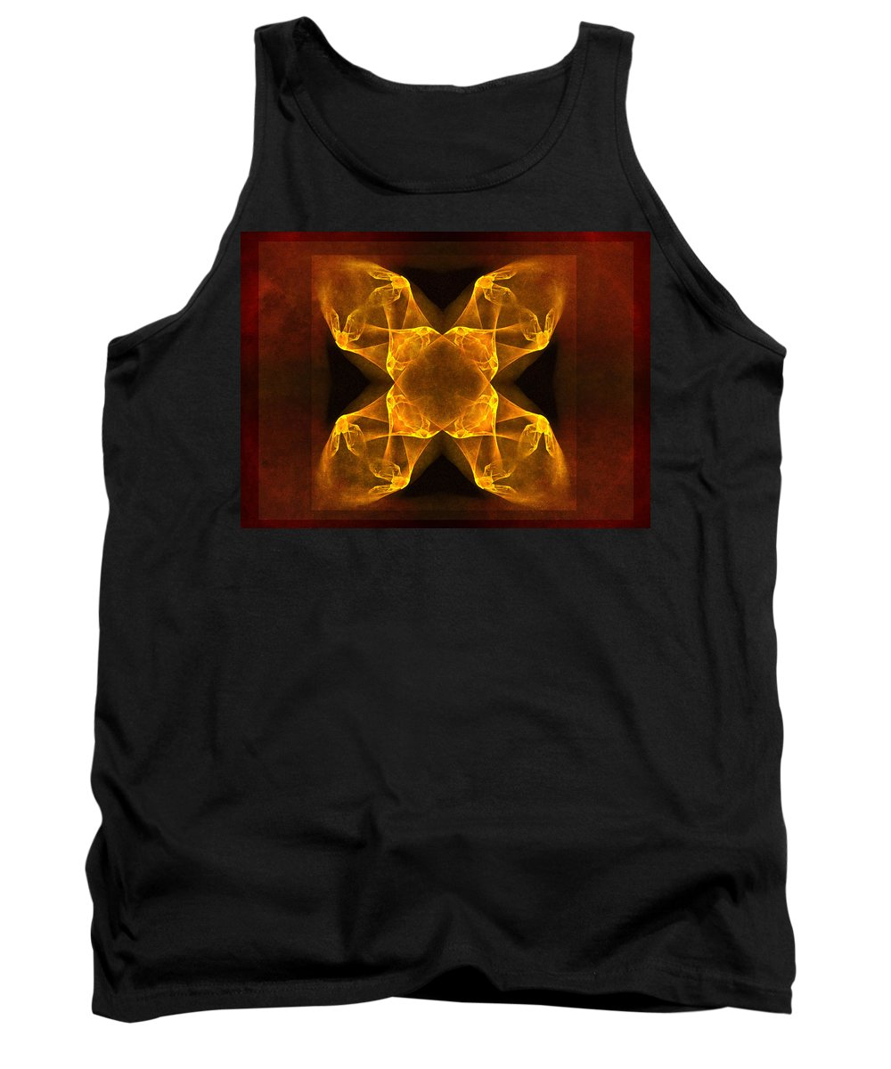 Gothic Tank Top featuring the digital art Celtic Gothica by Georgiana Romanovna