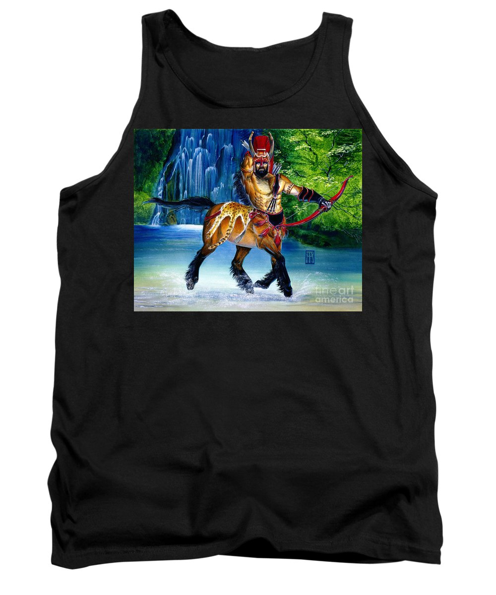 Centaur Tank Top featuring the painting Centaur In Waterfall by Melissa A Benson