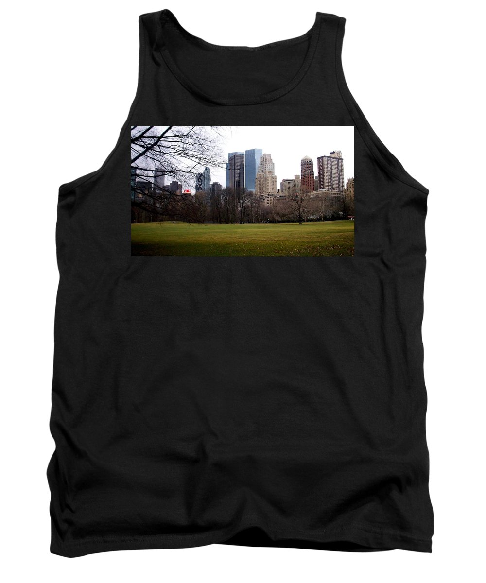 Central Park Tank Top featuring the photograph Central Park by Anita Burgermeister