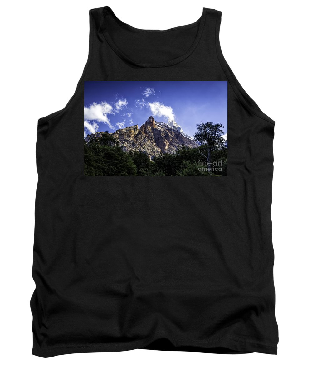 Patagonia Tank Top featuring the photograph Cerro Fitz Roy 3 by Timothy Hacker