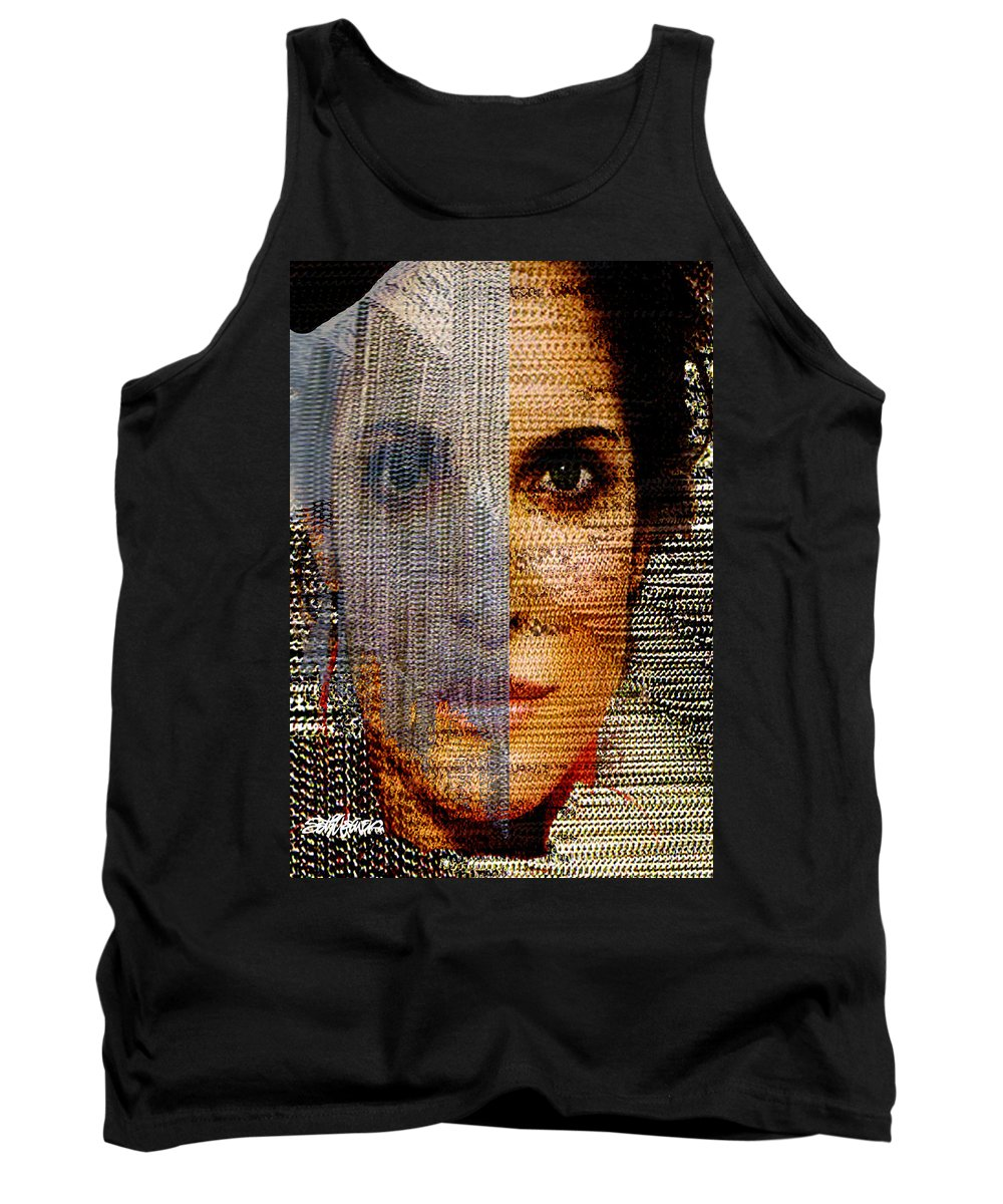 Mysterious Tank Top featuring the digital art Chained Vixen by Seth Weaver