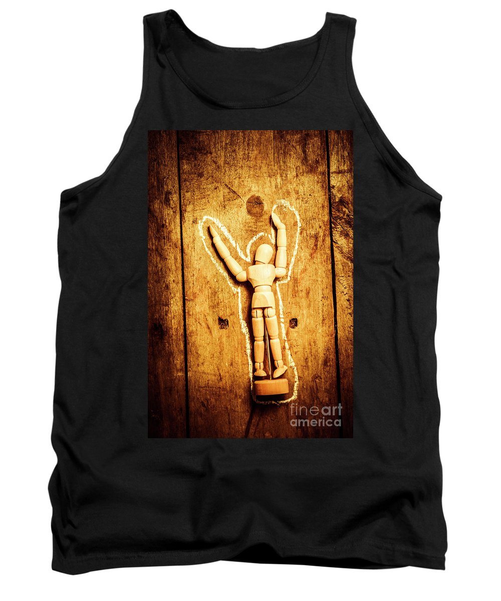 Crime Tank Top featuring the photograph Chalked Out John Doe by Jorgo Photography - Wall Art Gallery