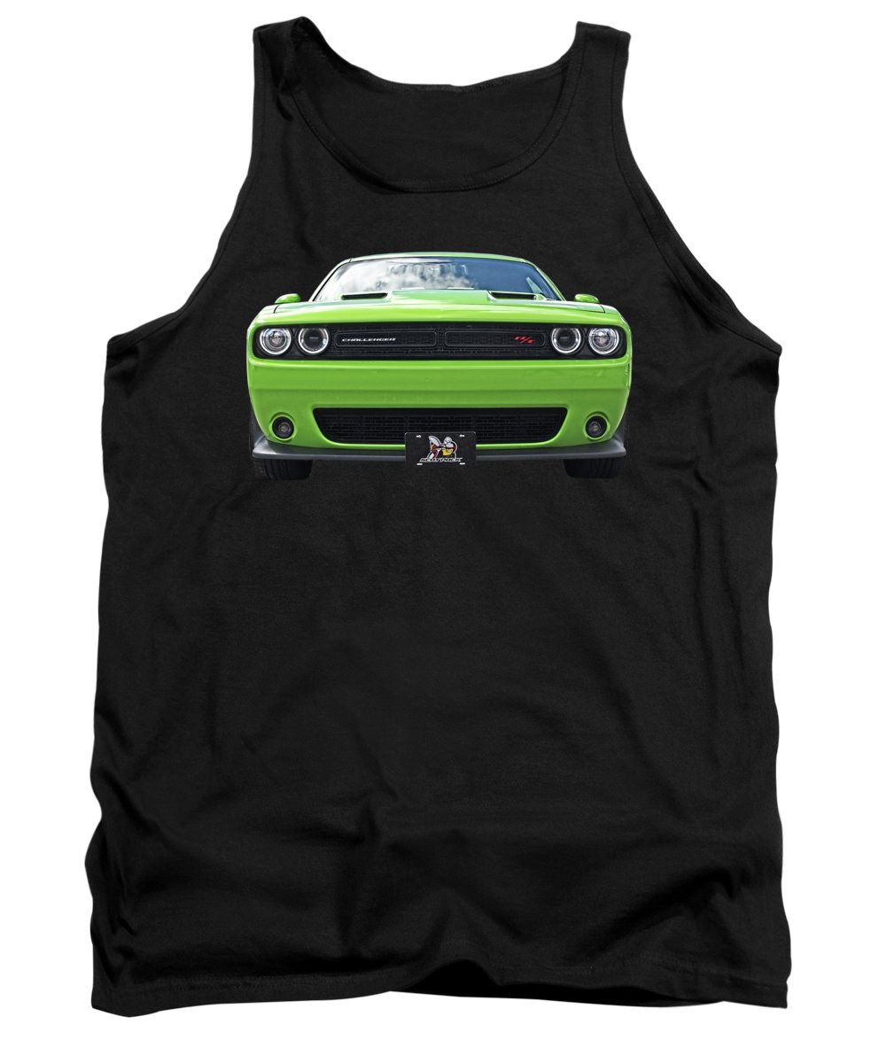 Dodge Tank Top featuring the photograph Challenger Scat Pack by Gill Billington
