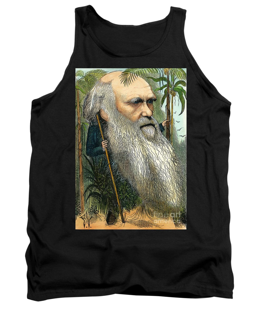 1872 Tank Top featuring the photograph Charles Robert Darwin by Granger