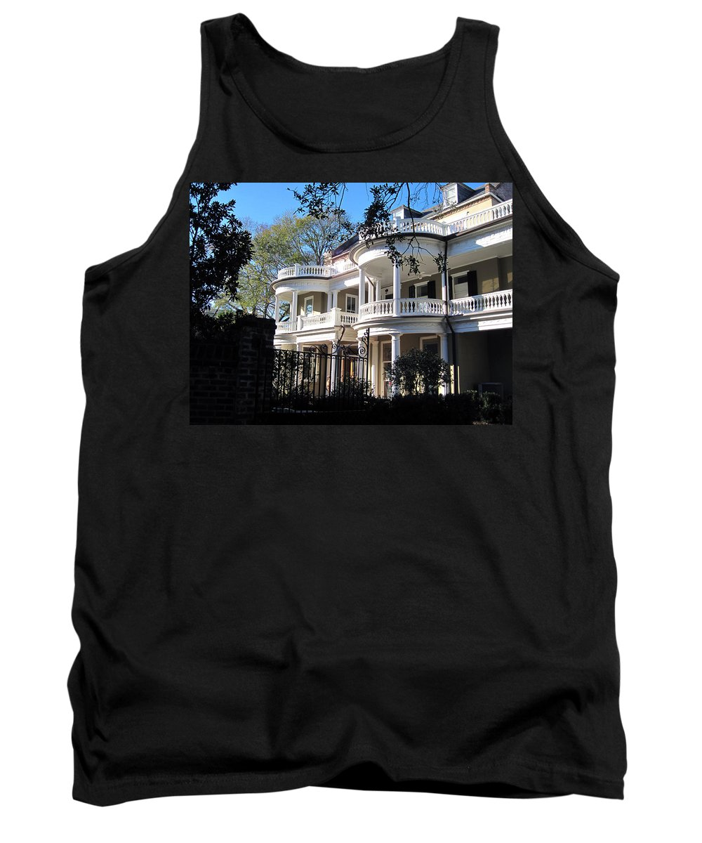 Photography Tank Top featuring the photograph Charlestons Beautiful Architecure by Susanne Van Hulst
