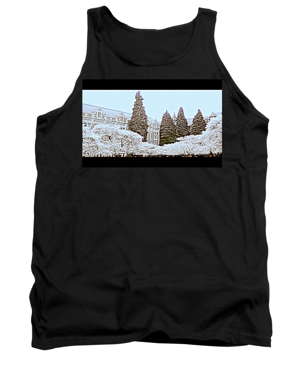 Cherry Tank Top featuring the photograph Cherry Trees Full Bloom by Maro Kentros