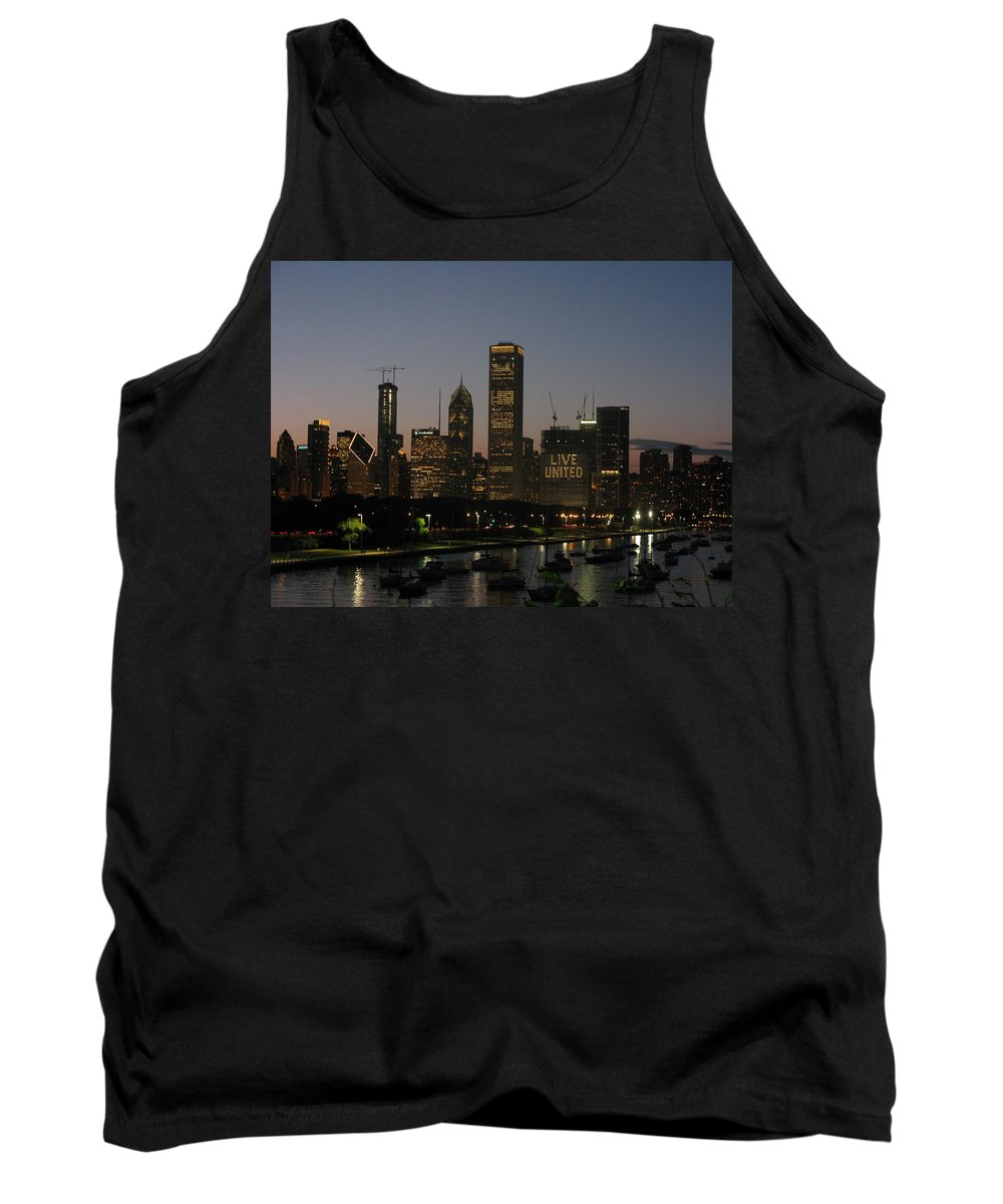 Chicago Tank Top featuring the photograph Chicago At Night by Brittany Horton