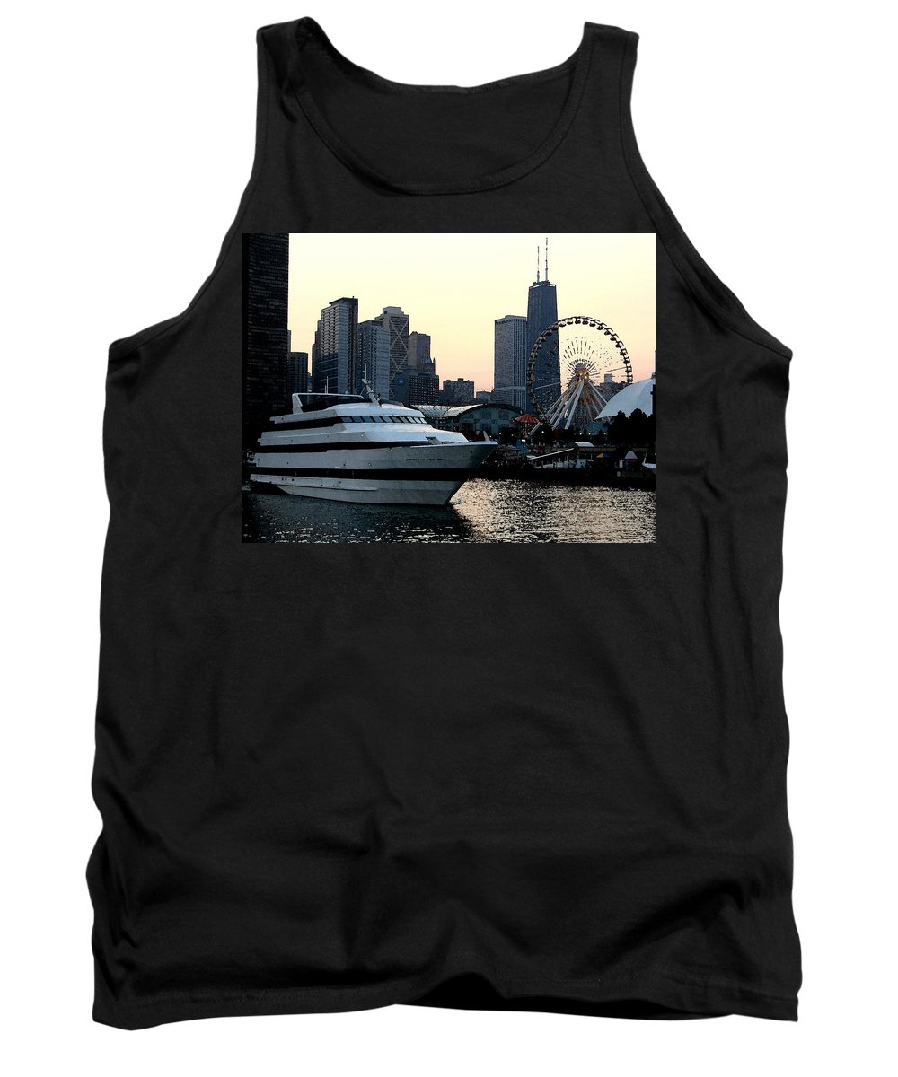Photo Tank Top featuring the photograph Chicago Navy Pier by Glory Fraulein Wolfe