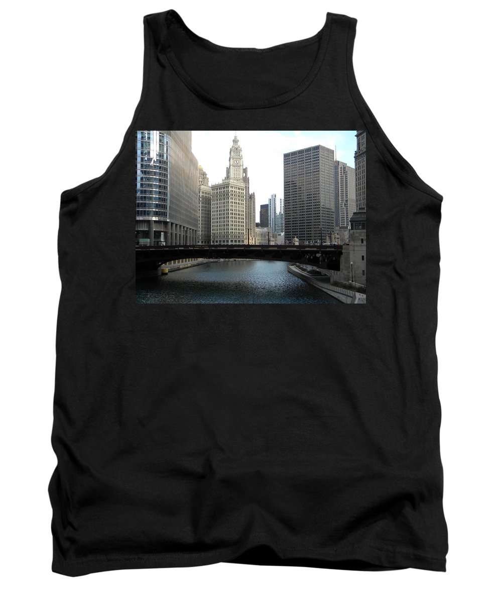 Chicago Tank Top featuring the photograph Chicago River by Jan Gilmore