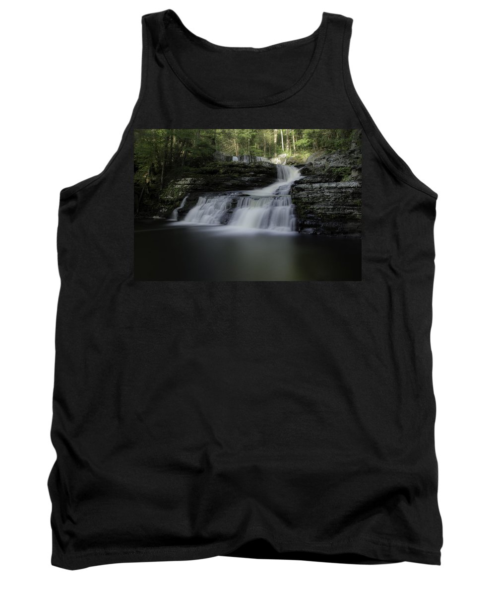 Waterfall Tank Top featuring the photograph Child's Park Waterfall by Eleanor Bortnick