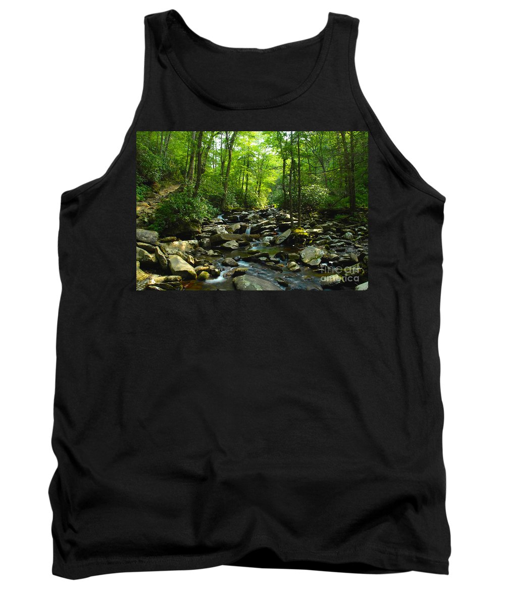 Trail Tank Top featuring the photograph Chimney Tops Trail by David Lee Thompson