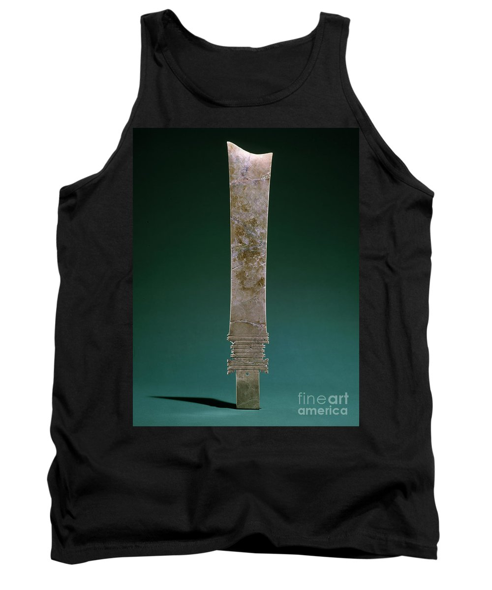 Ancient Tank Top featuring the photograph China: Jade Blade by Granger