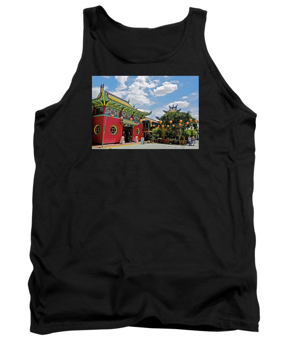 Chinatown Tank Top featuring the photograph Chinatown Los Angeles #2 by Edita De Lima