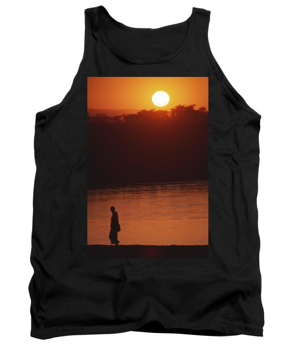 Sunset Tank Top featuring the photograph Chitwan Sunset by Patrick Klauss