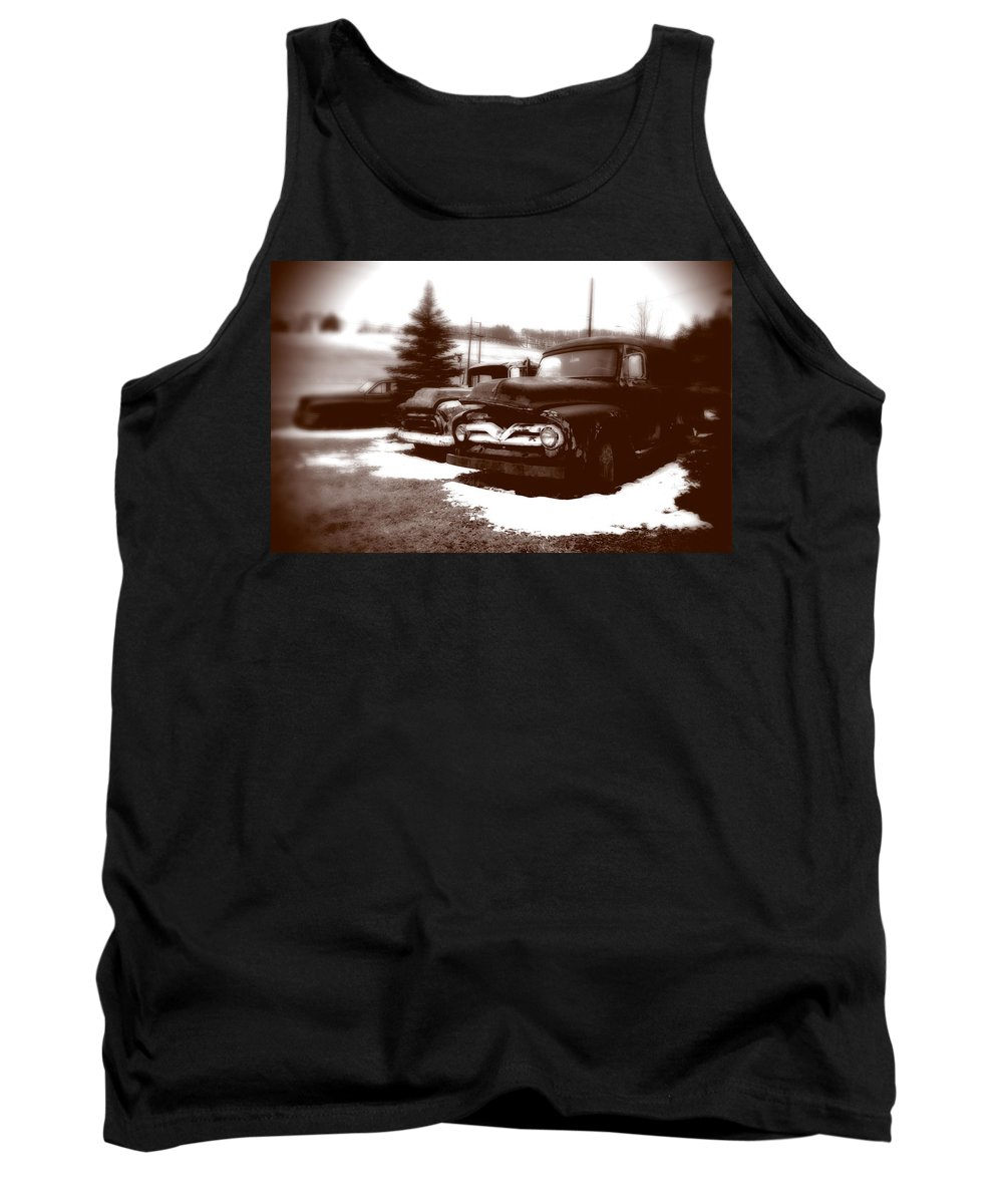 Old Cars Tank Top featuring the photograph Chocolate Ghosts by Jean Macaluso