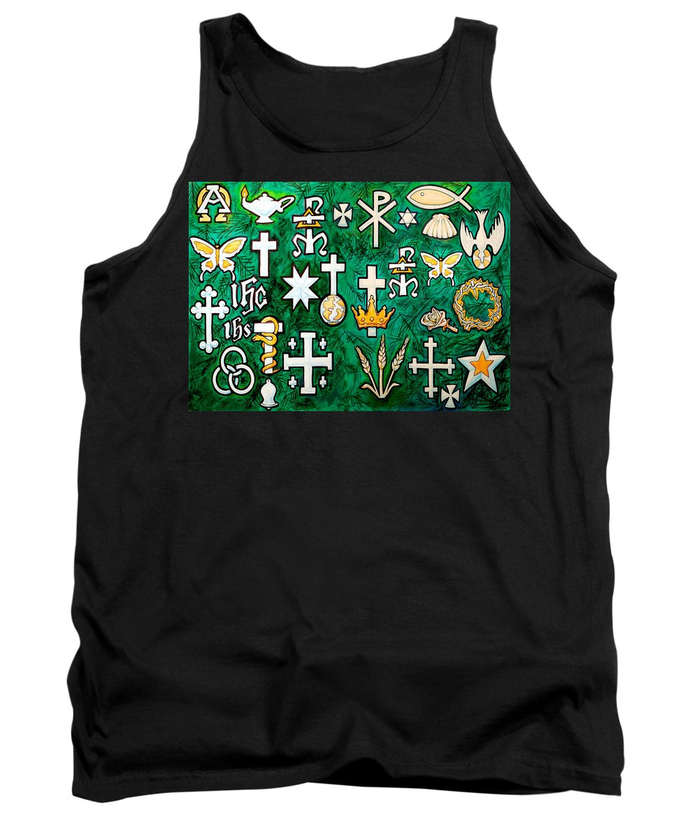 Chrismons Tank Top featuring the greeting card Chrismons by Kevin Middleton