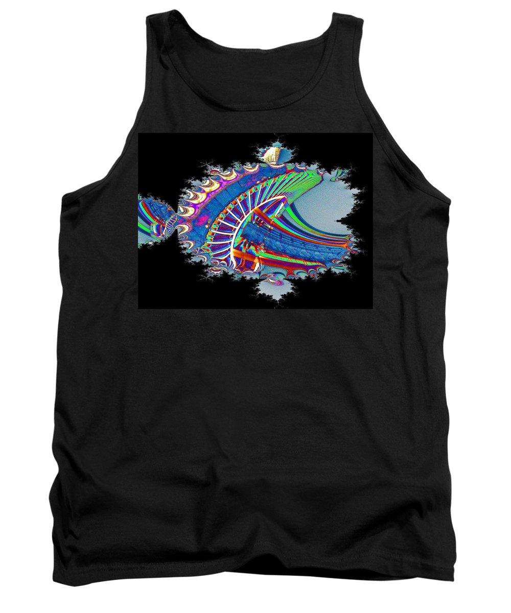 Seattle Tank Top featuring the digital art Christmas Needle In Fractal by Tim Allen
