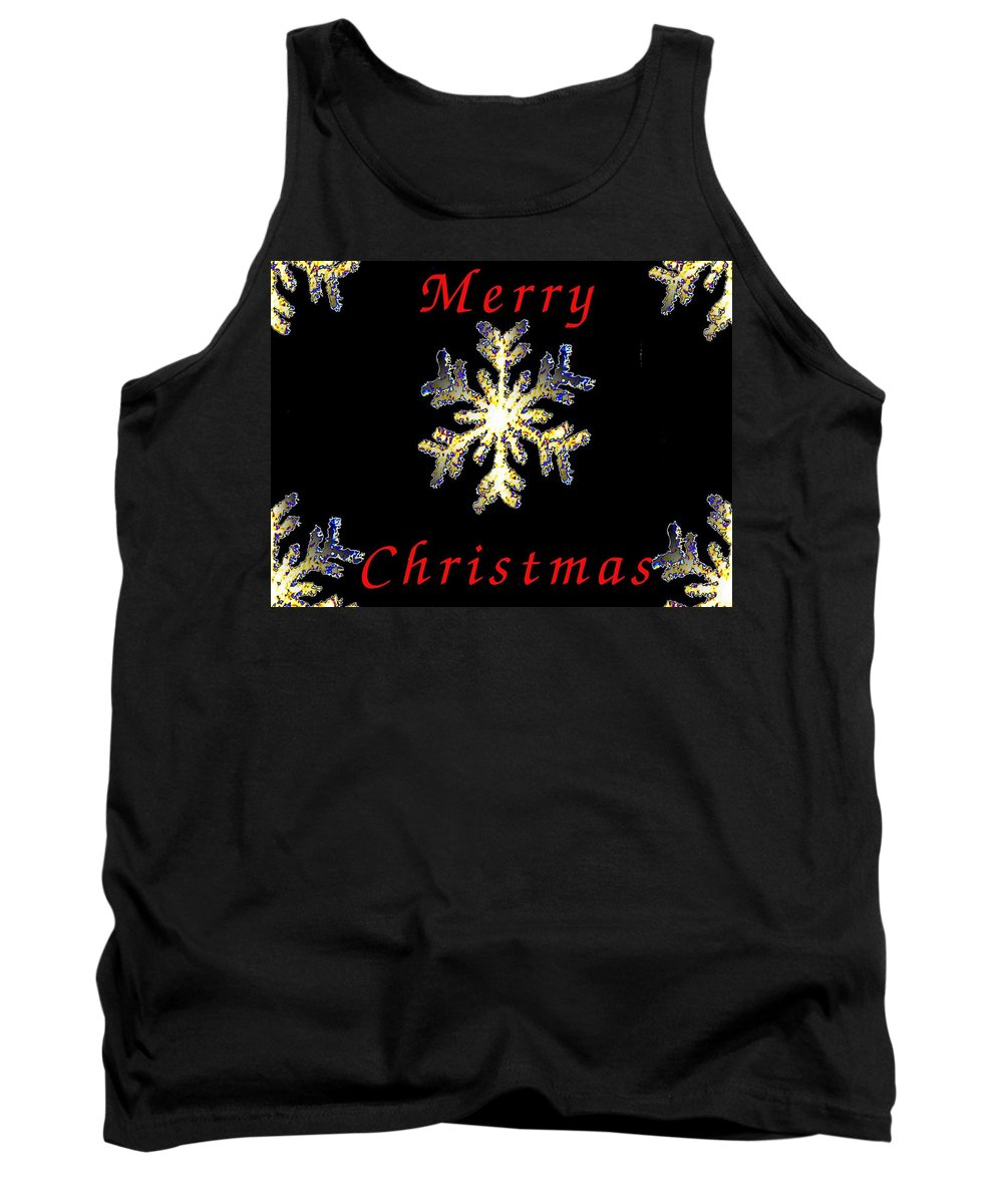 Snow Tank Top featuring the photograph Christmas Snowflakes by Tim Allen